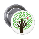 Tree of Hearts 2 Inch Round Button
