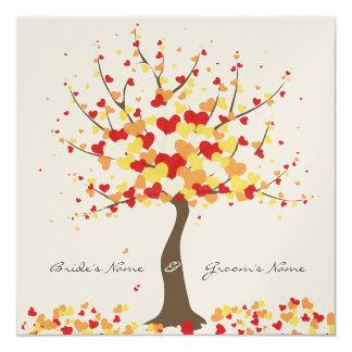 Tree Of Hearts - Fall/Winter Wedding Invitation
