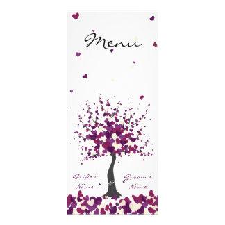 Tree of Hearts - Purple Wedding Menu