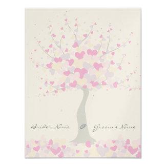 Tree Of Hearts - Spring/Summer Wedding Invitation 11 Cm X 14 Cm Invitation Card