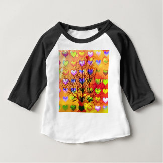 Tree of joy with multiple hearth baby T-Shirt