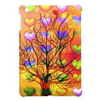 Tree of joy with multiple hearth case for the iPad mini