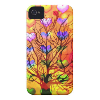 Tree of joy with multiple hearth Case-Mate iPhone 4 case