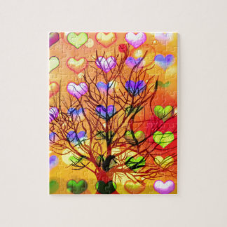 Tree of joy with multiple hearth jigsaw puzzle