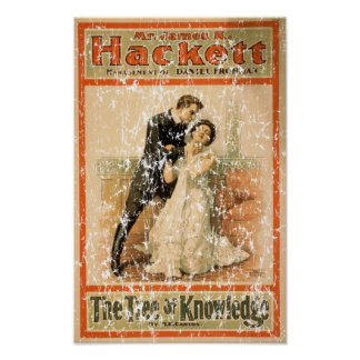 Tree of Knowledge 1898- distressed Poster