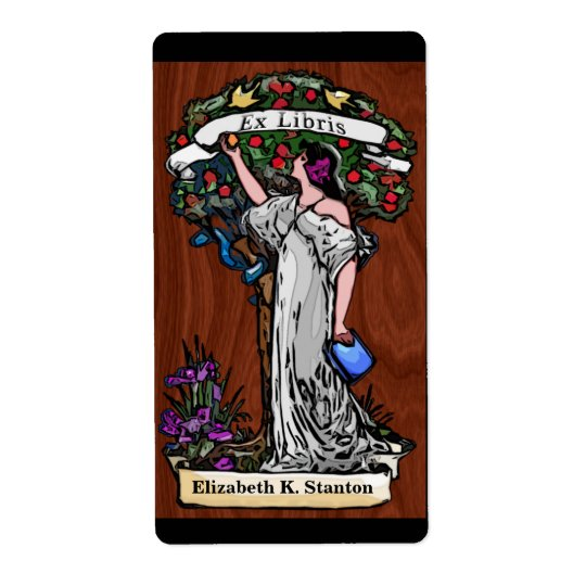 Tree of Knowledge (Personalized Bookplate) Shipping Label
