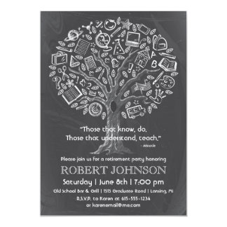 Tree of Knowledge Teacher Retirement Invitation