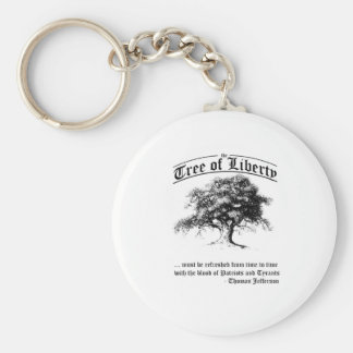 tree of liberty basic round button keychain