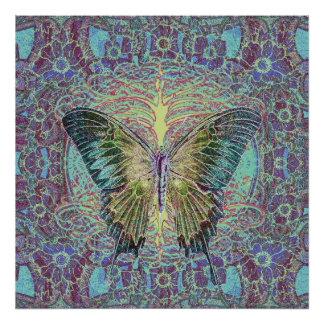 Tree of Life and Butterfly Poster