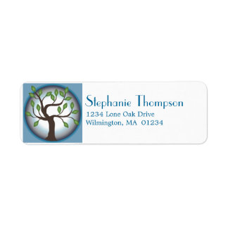 Tree of Life and Moon Return Address Label