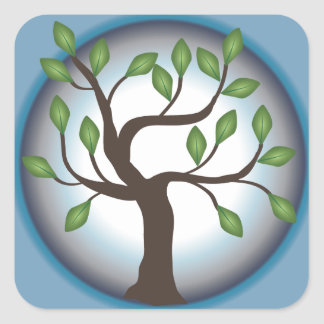 Tree of Life and Moon Square Sticker