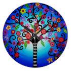 Tree of Life Bar Bat Mitzvah Painting Large Clock