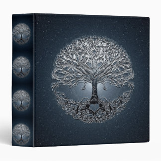 Tree of Life Blue Sky Peaceful Night 3 Ring Binders