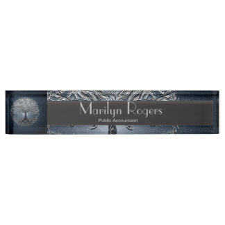Tree of Life Blue Sky Peaceful Night Desk Nameplates