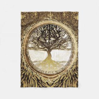 Tree of Life Brown Tree by Amelia Carrie Fleece Blanket