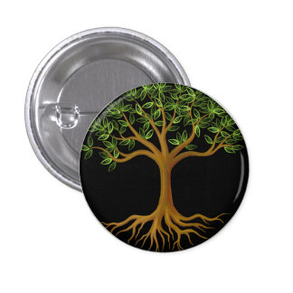 Tree of Life button pin