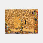 Tree of Life by Gustav Klimt Fine Art Fleece Blanket