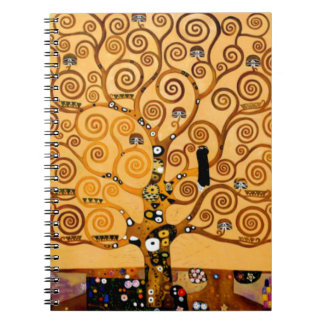 Tree of Life by Gustav Klimt Fine Art Spiral Note Books