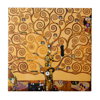 Tree of Life by Gustav Klimt Fine Art Tile