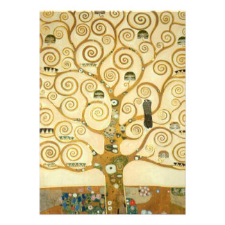 Tree of Life by Gustav Klimt Announcement