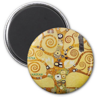 Tree of Life by Klimt 2 Inch Round Magnet