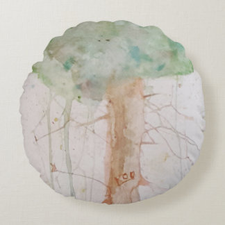 Tree of Life by Koo Watercolour Cushion Pillow