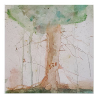 Tree of Life by Koo Watercolour Poster Perfect Poster