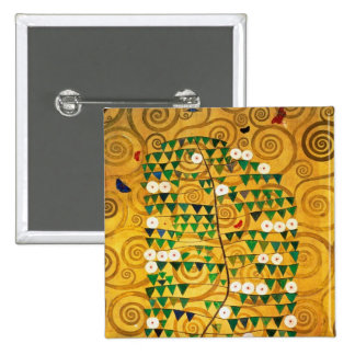 Tree of Life  c.1905-09 2 Inch Square Button