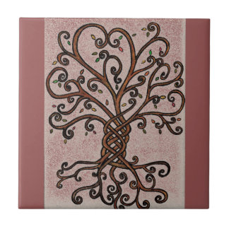 Tree of Life Ceramic Tile Style 1