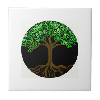 Tree of Life ceramic tile trivet