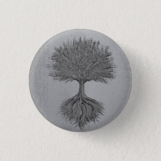 Tree of Life Chrome 2 1 Inch Round Button
