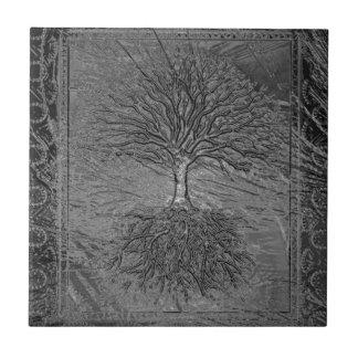 Tree of Life Chrome Tile