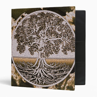 Tree of Life Circle of Life in Brown 3 Ring Binder