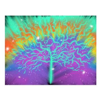 Tree of Life Colourful Worship Art 6th Jan 2018 HC Postcard