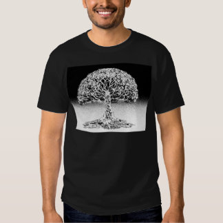 Tree of Life Coral Reef Black and White T Shirts