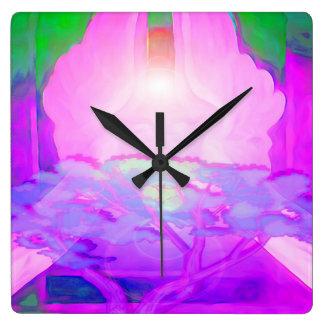 Tree of Life Creativity Square Wall Clock