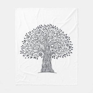 Tree Of Life Doodle Fleece Blanket