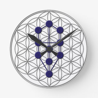 Tree of Life FOL Round Clock