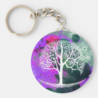 Tree of Life Galaxy Keychain