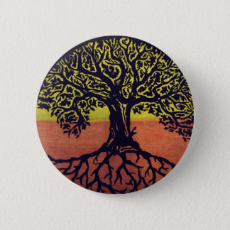 Tree Of Life Go Green! 2 Inch Round Button