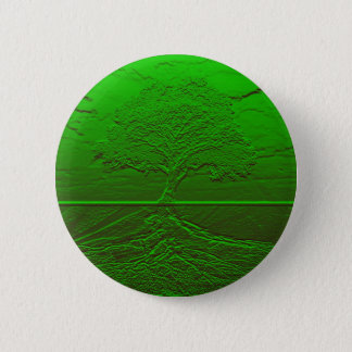 Tree of Life Green Energy 2 Inch Round Button