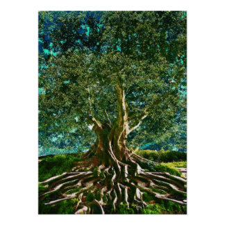 Tree of Life Green Poster