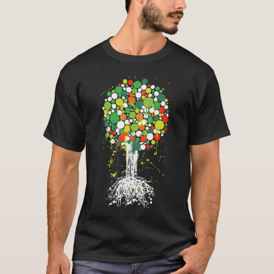 Tree of life Green Tee (Men) - on Black