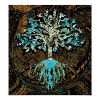 Tree of Life Grounded by Faith Poster
