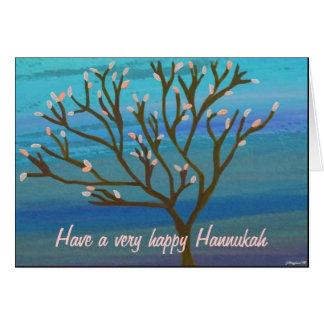 Tree of life Hannukah Card