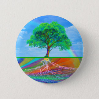 Tree of Life Happiness 2 Inch Round Button