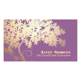 Tree of Life Health and Wellness Purple Pack Of Standard Business Cards
