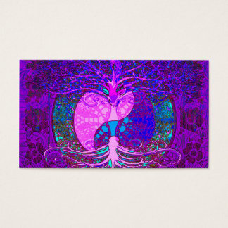 Tree of Life Heart Business Card