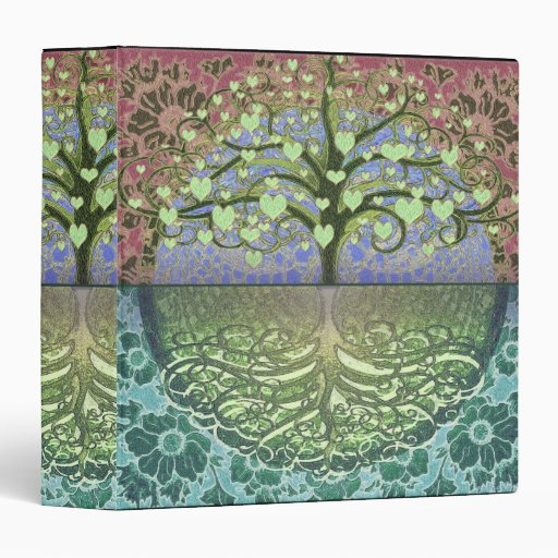 Tree of Life Heart by Amelia Carrie 3 Ring Binders