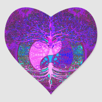 Tree of Life Heart Heart Sticker